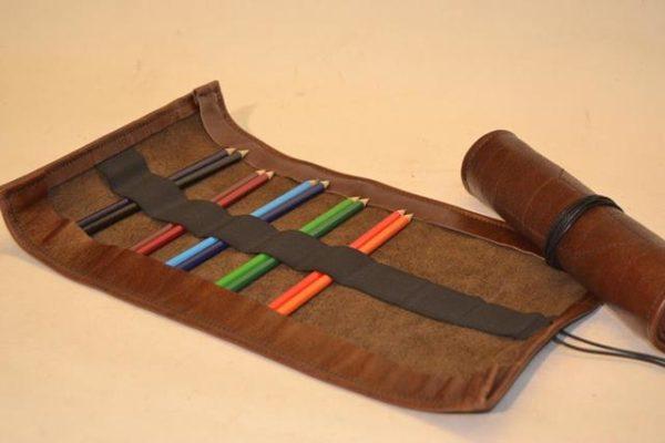 Stiftrolle Lederrolle für Stifte, Werkzeug, Schmuck, Uhren