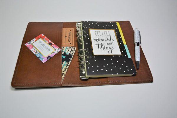 Lederkalender Scrapbook Timer Lederjournal