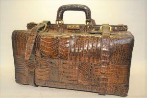 Krokodilleder koffer