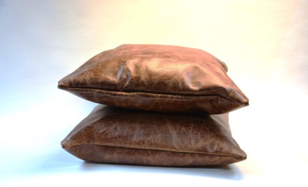 Kissen aus Leder