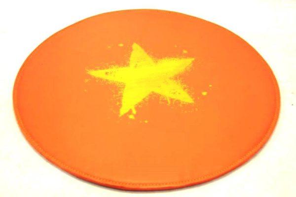Ledertischset rund mit Stern