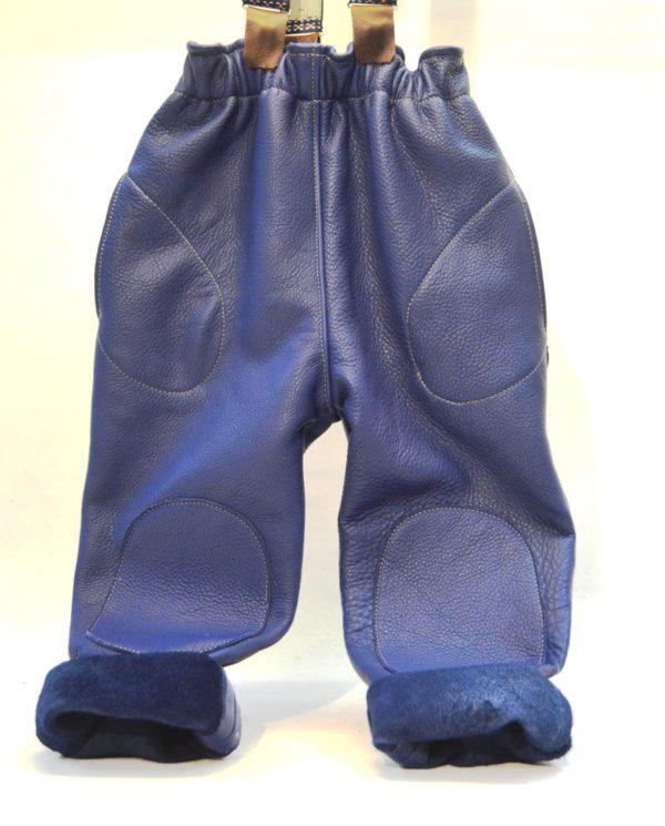 Lederhose blau Gr 86-92-98