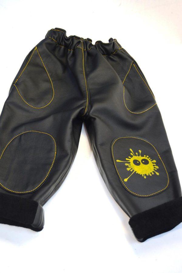 Lederhose schwarz Gr 86-92-98 Vorderseite